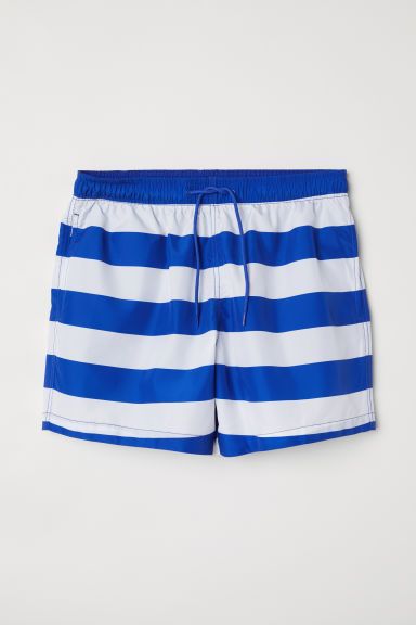 Swim shorts - Blue/White striped - Men | H&M CN