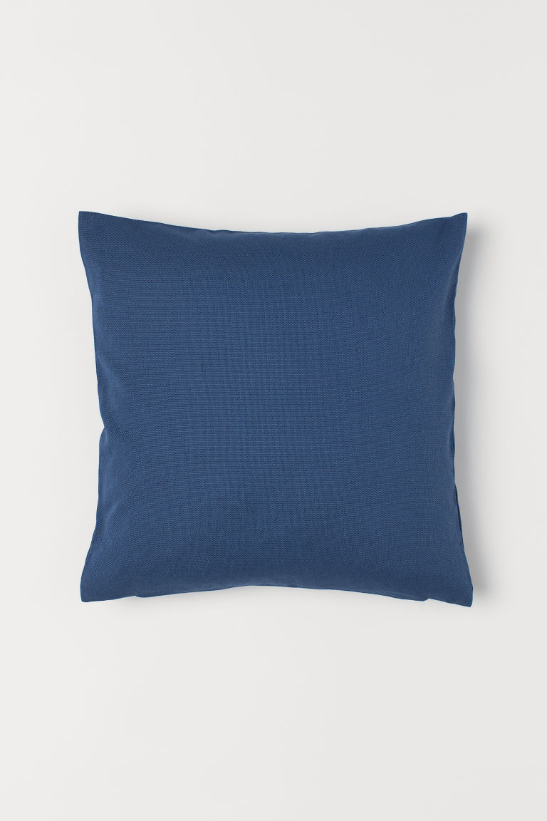 Cotton Canvas Cushion Cover - Dark blue - Home All | H&M US