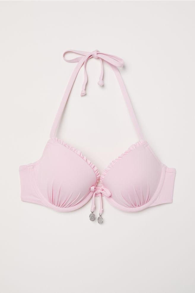 188464015e917 Push-up bikini top - Light pink - Ladies | H&M ...