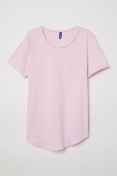 T-shirt with a chest pocket - Light pink -  | H&M