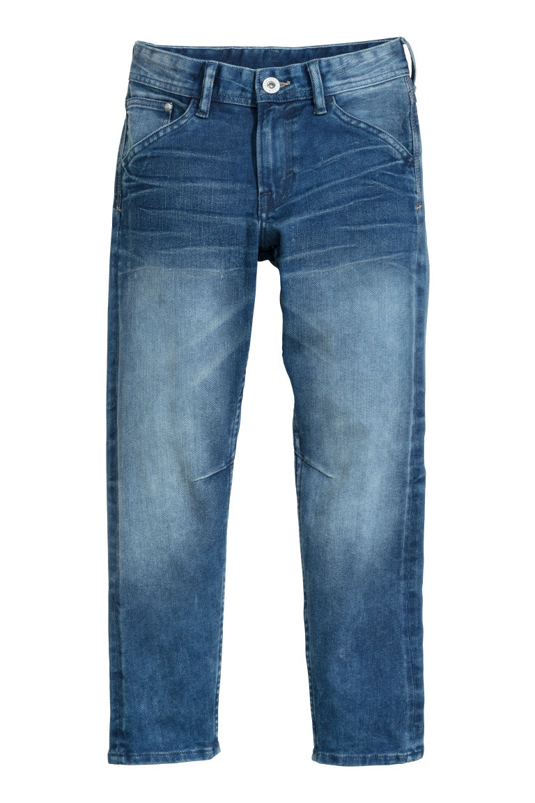 Relaxed Tapered Jeans - Denim blue - Kids | H&M CN