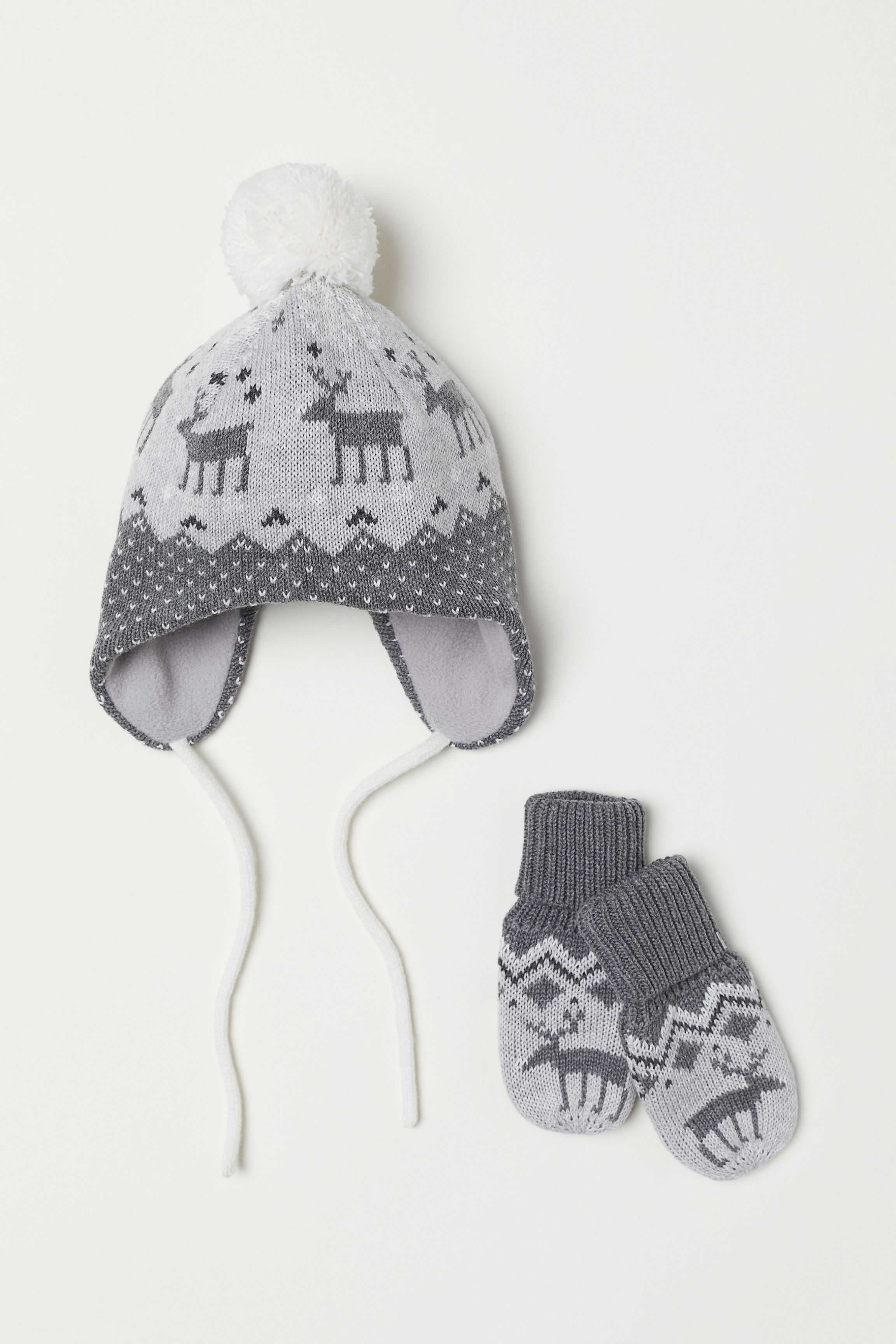 9423e5cfc6b Hat and Mittens - Gray - Kids