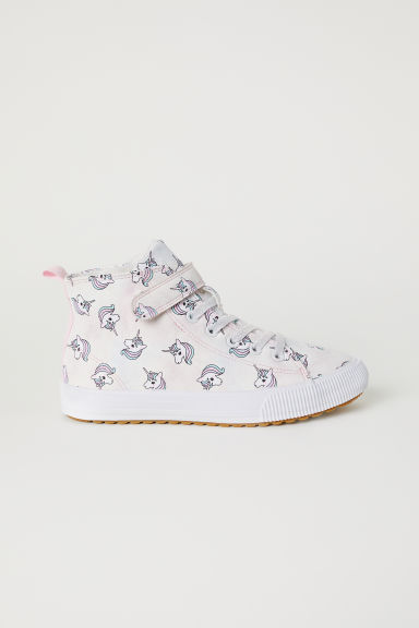 Pile-lined hi-tops - Light purple/Unicorns - Kids | H&M