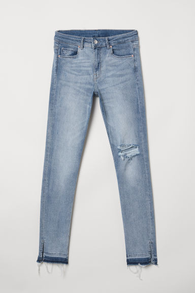 Skinny Regular Ankle Jeans - Light denim blue - Ladies | H&M US
