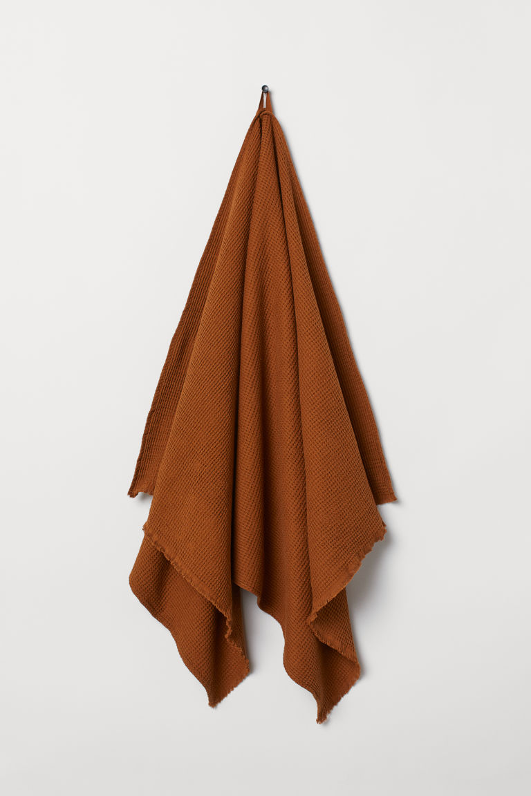Waffled bath towel - Ochre - Home All | H&M CN