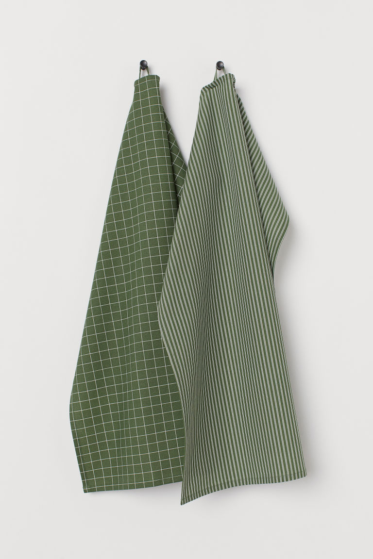 Asciugapiatti, 2 pz - Verde scuro - HOME | H&M IT