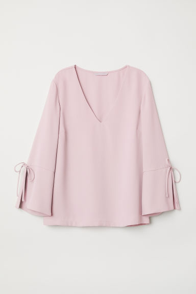 V-neck blouse - Light pink - Ladies | H&M