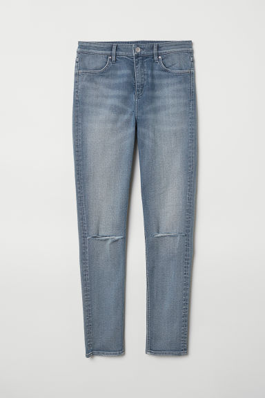 Skinny Regular Ripped Jeans - Denim blue -  | H&M