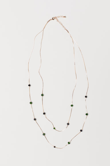 Two-strand necklace - Gold-coloured/Black - Ladies | H&M CN