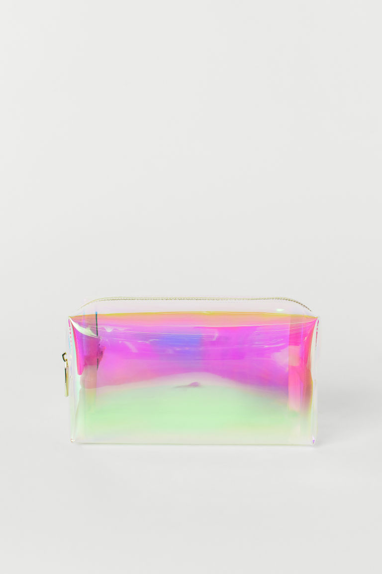 Transparent make-up bag - Pink/Holographic -  | H&M