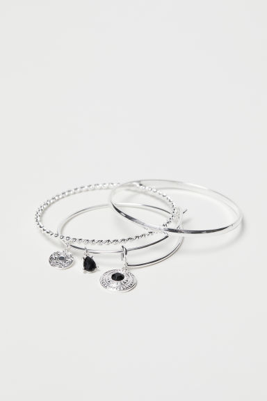 3-pack bangles - Silver-coloured - Ladies | H&M CN