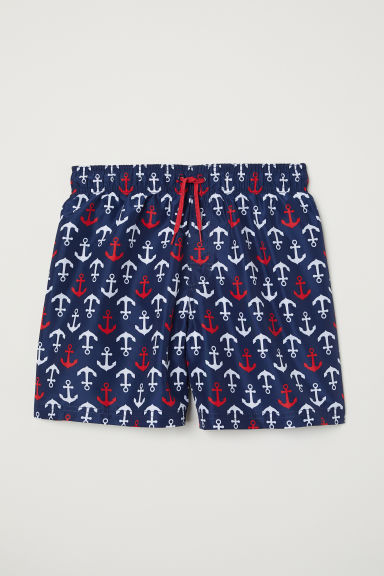 Swim shorts - Dark blue/Anchors -  | H&M