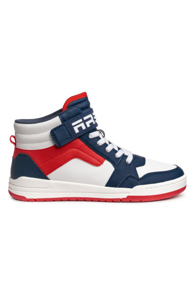 Hi-top trainers - White/Dark blue -  | H&M CN