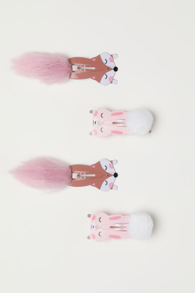 4-pack hair clips - Pink - Kids | H&M