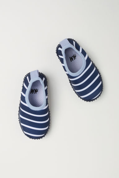 Aqua shoes - Dark blue/Striped - Kids | H&M
