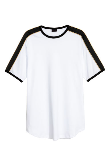 T-shirt with panels - White - Men | H&M