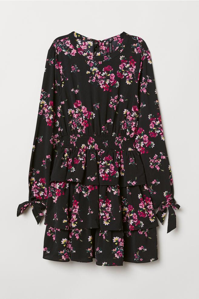 8d8d9598ca2a Patterned Dress - Black/floral - | H&M ...