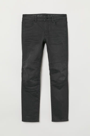 Twill trousers Skinny fit - Black washed out - Kids | H&M CN