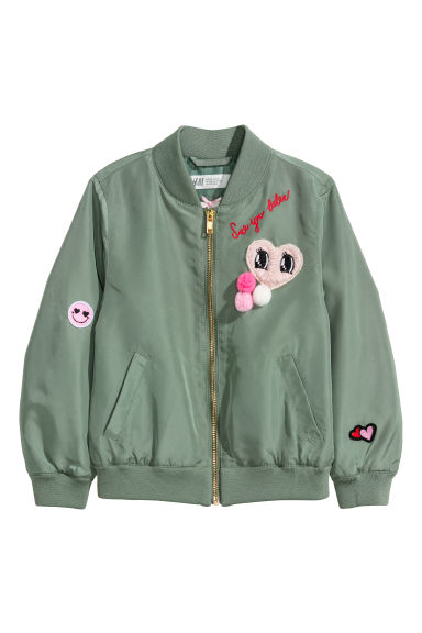 Bomber jacket - Khaki green/Heart -  | H&M
