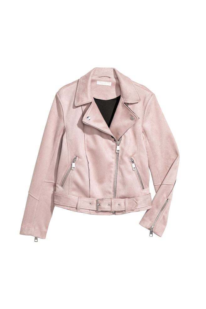 53fa8dceb Faux Suede Biker Jacket - Light pink - Ladies