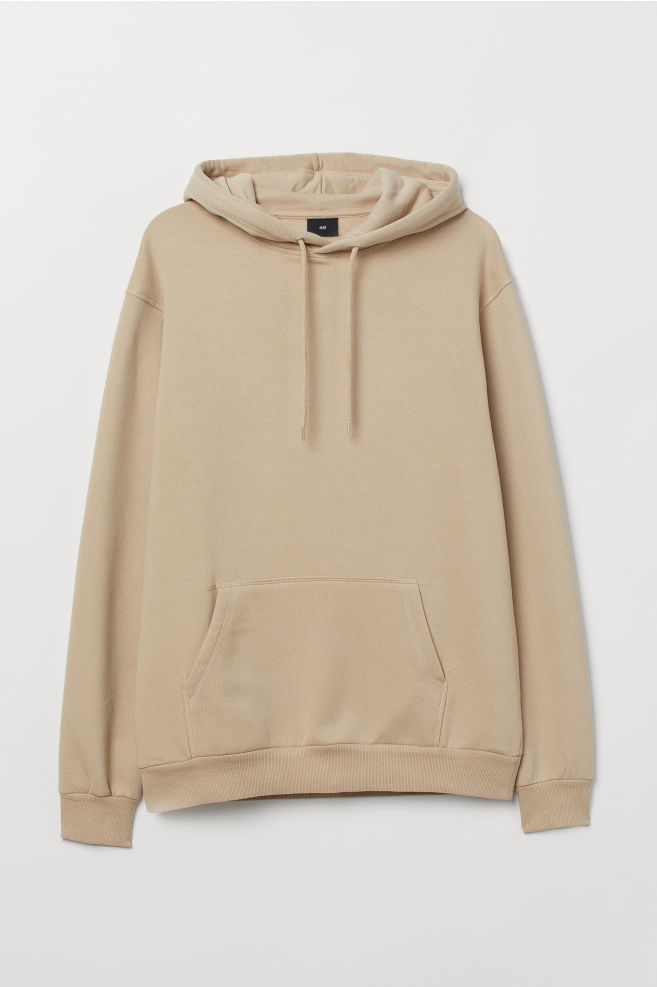 ed30262c9 ... Hooded Sweatshirt - Beige - Men | H&M ...
