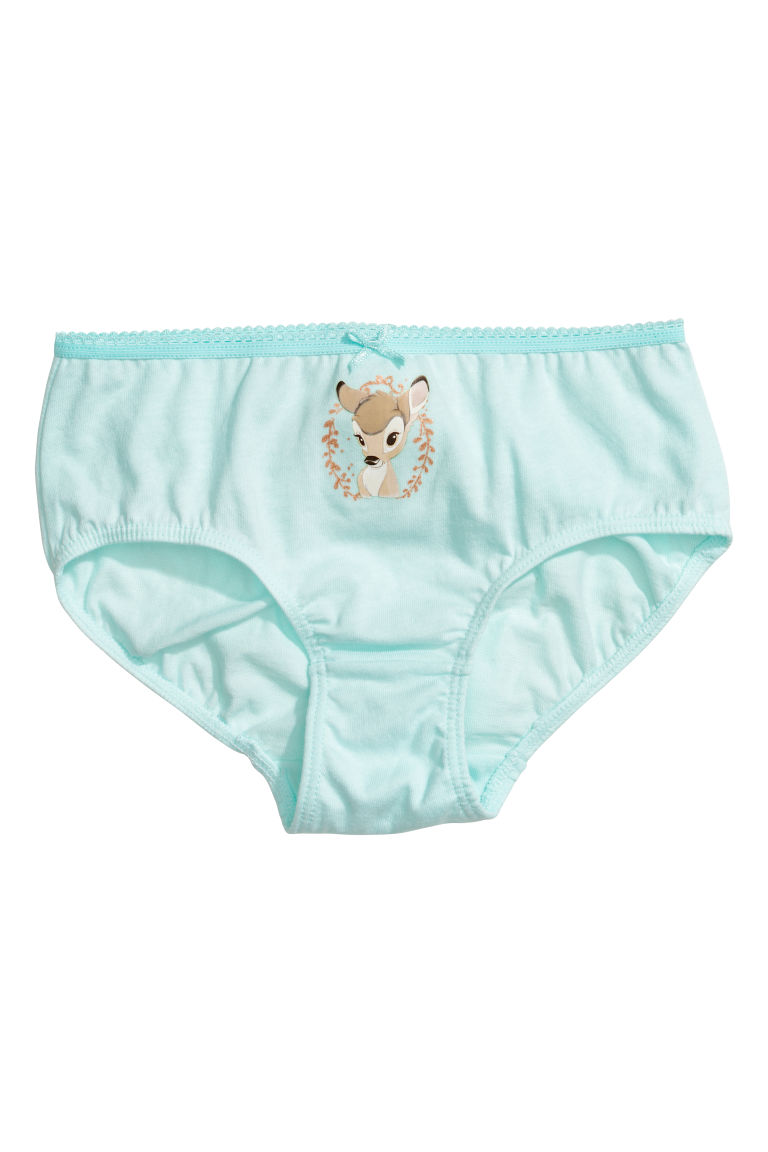 7-pack cotton briefs - Mint green/Bambi - Kids | H&M