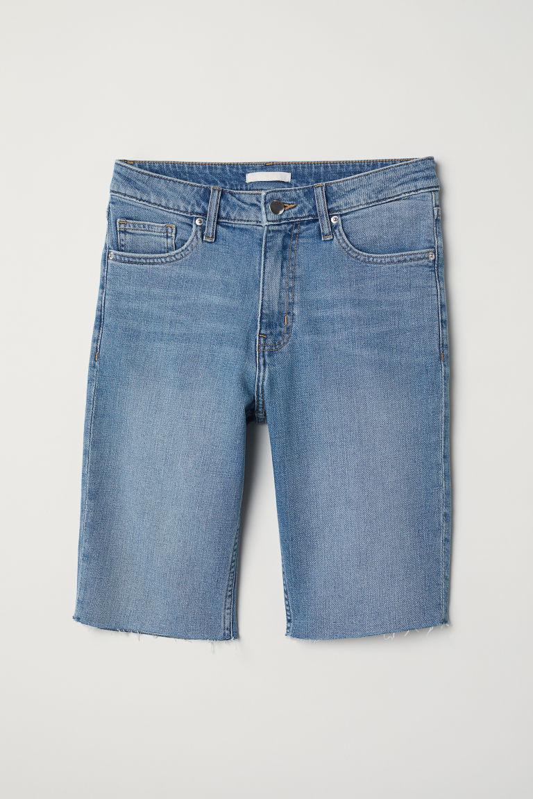 ladies knee length denim shorts