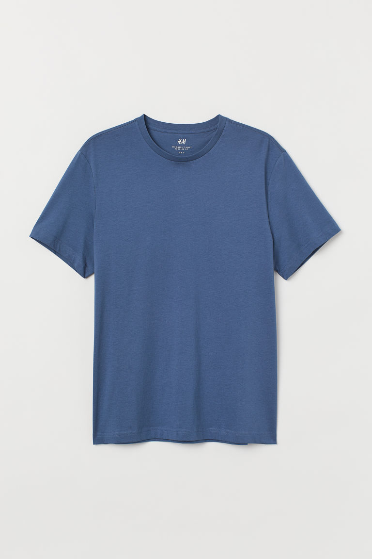 T-shirt girocollo Regular fit - Blu - UOMO | H&M IT