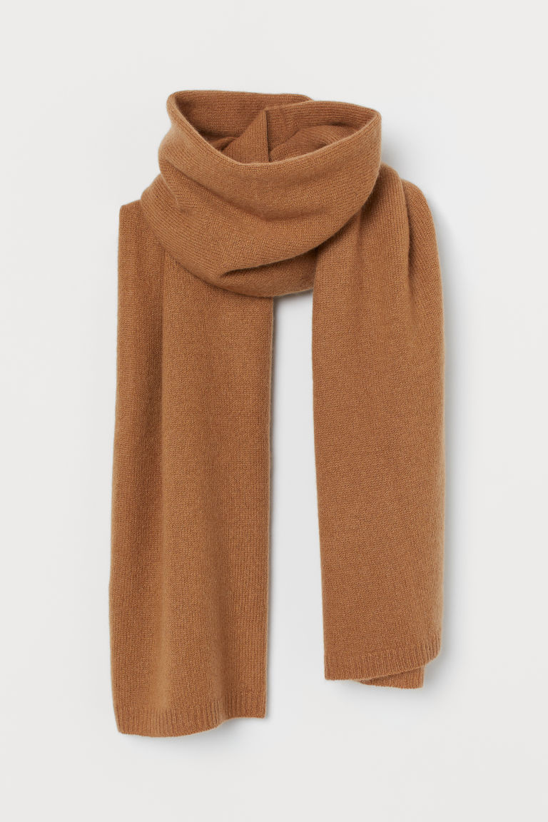 Cashmere scarf - Light brown - Ladies | H&M GB