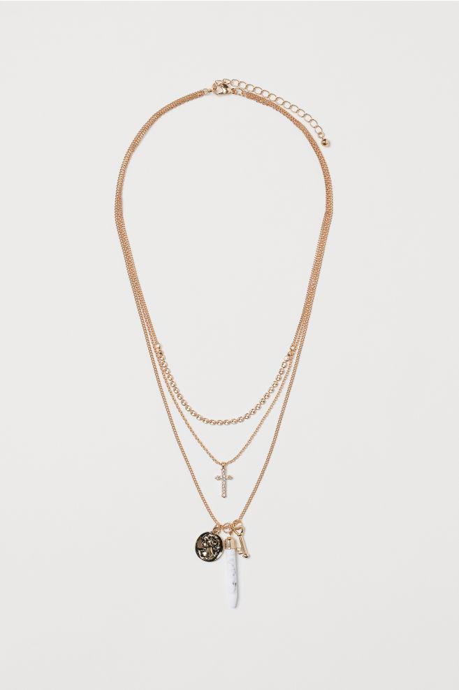 Treradigt halsband - Guld - DAM  543b2652a6c00