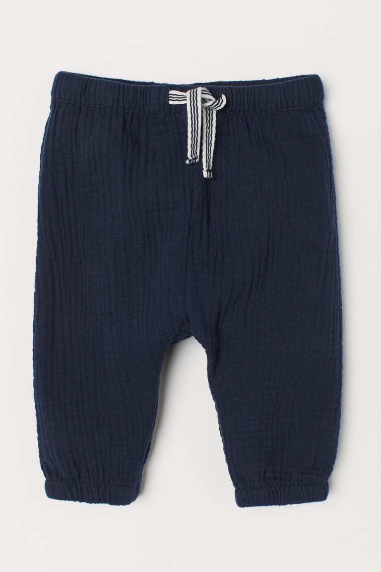 Cotton pull-on trousers - Dark blue -  | H&M CN