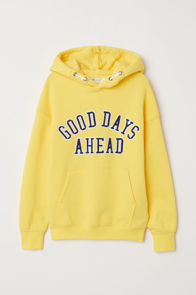 Hooded top - Yellow - Kids | H&M CN
