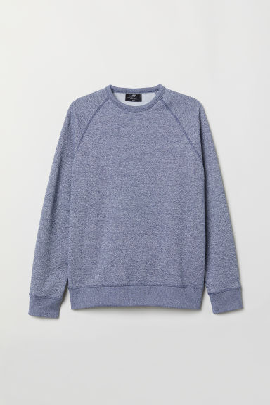 Sweat-shirt Regular fit - Bleu foncé chiné -  | H&M BE