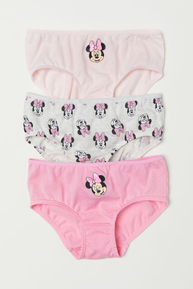 3-pack cotton briefs - Light pink/Minnie Mouse - Kids | H&M