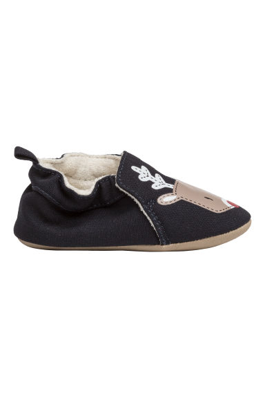 Printed slippers - Dark blue/Reindeer - Kids | H&M
