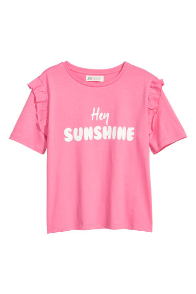 T-shirt met volants - Roze -  | H&M BE