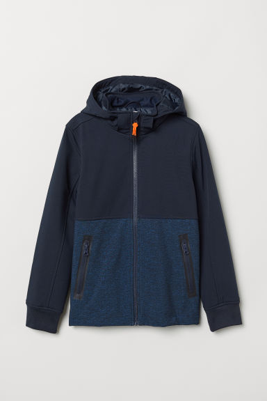 Padded softshell jacket - Dark blue - Kids | H&M