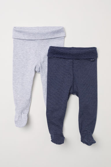 Pantaloni in jersey, 2 pz - Blu scuro - BAMBINO | H&M IT