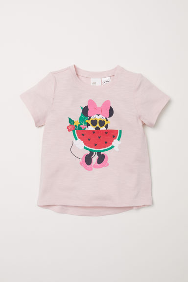 Printed T-shirt - Light pink/Minnie Mouse -  | H&M