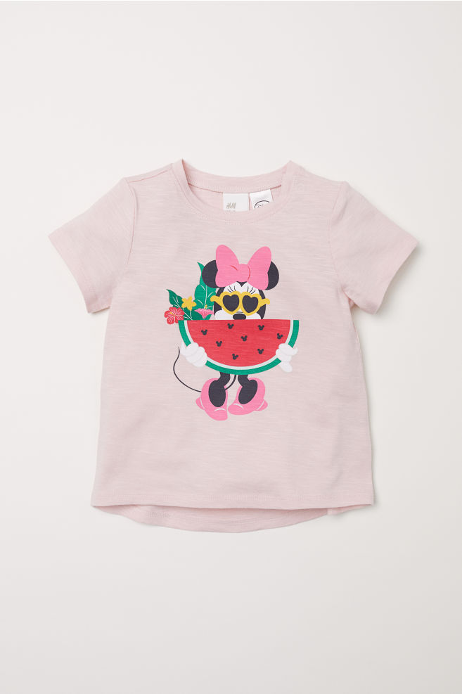 f3394e2eced8 Printed T-shirt - Light pink/Minnie Mouse - Kids | H&M ...