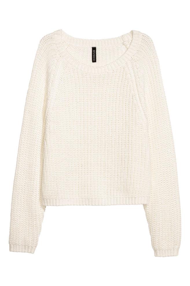 ee5869a3f634f3 Rib-knit jumper - White - Ladies