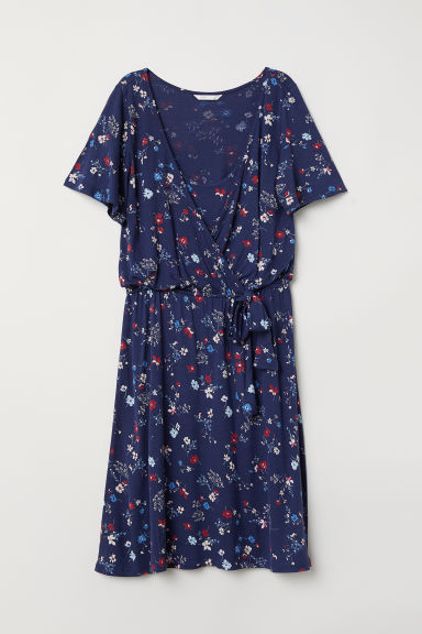 MAMA Nursing dress - Dark blue/Floral - Ladies | H&M