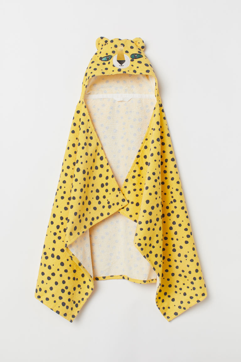 Hooded Bath Towel - Yellow/cheetah -  | H&M CA