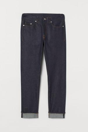 Slim Straight Selvedge JeansModel
