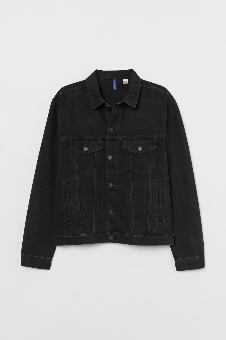 Chamarra de denim con diseño - Negro/Post Malone - Men | H&M US