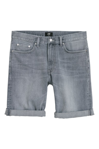 Denim shorts - Grey denim - Men | H&M CN
