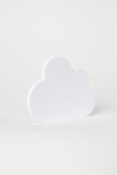 Wood and metal bookend - White/Cloud - Home All | H&M CN