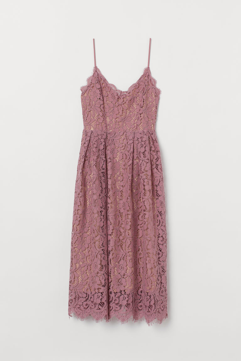 Lace Dress - Dusty rose - Ladies | H&M US