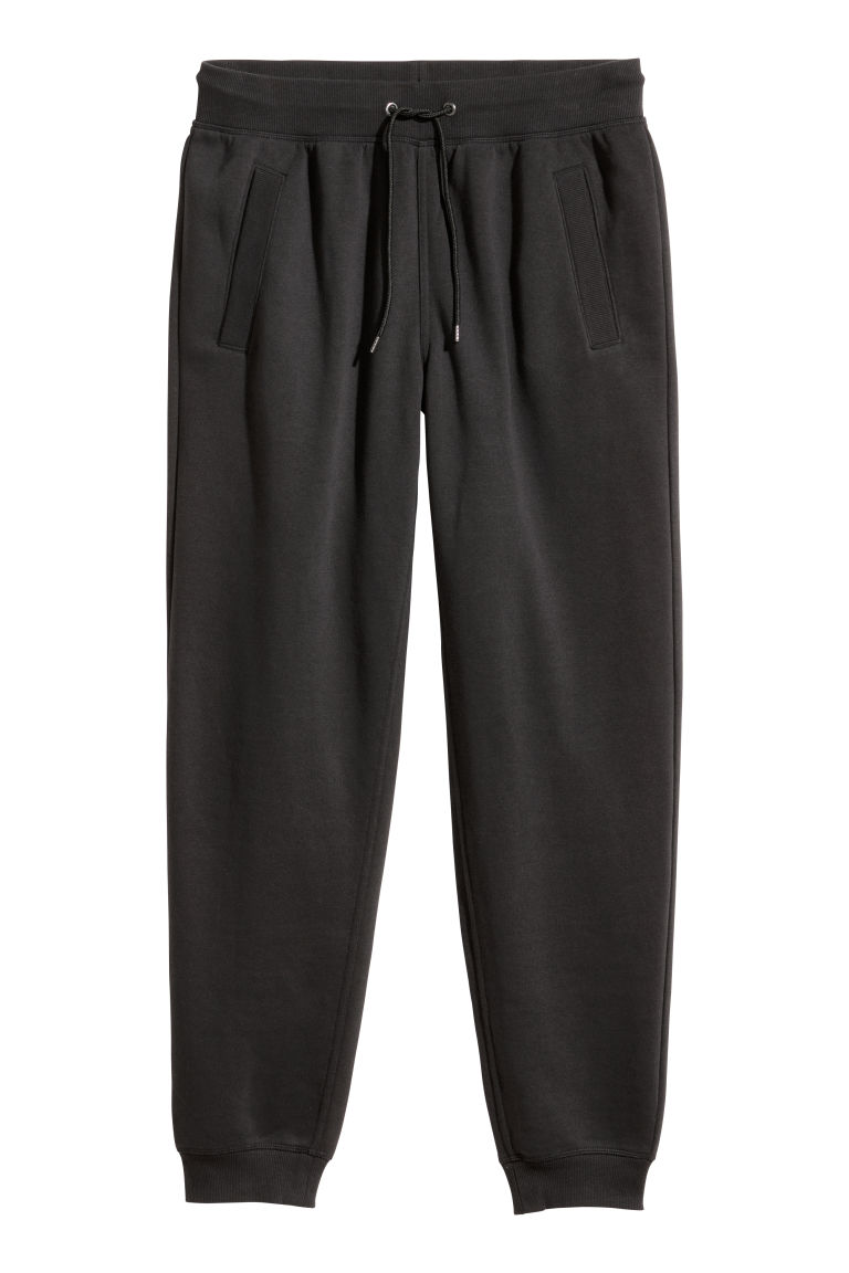 Sweatpants Regular fit - Black - Men | H&M