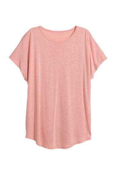 Top with cap sleeves - Powder pink - Ladies | H&M
